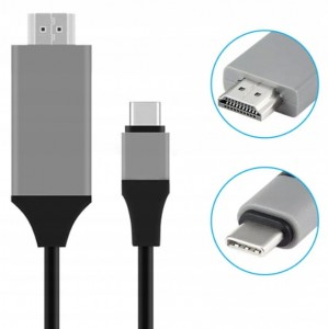 KABEL ADAPTER MHL USB-C DO HDMI 4K Thunderbolt 3.0 do MACBOOK PRO AIR SAMSUNG i inne