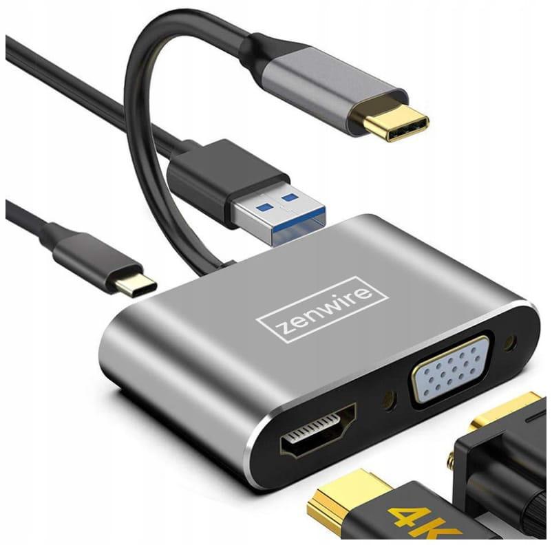 Image of ADAPTER HUB Przejściówka USB-C 4W1 HDMI 4K VGA USB